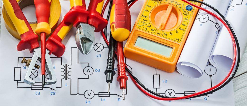 Elektrikár, elektrické pracovné náradie, schémy, výkresy, dokumentácia